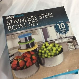 Edge Home Stainless Steel Bowl Set